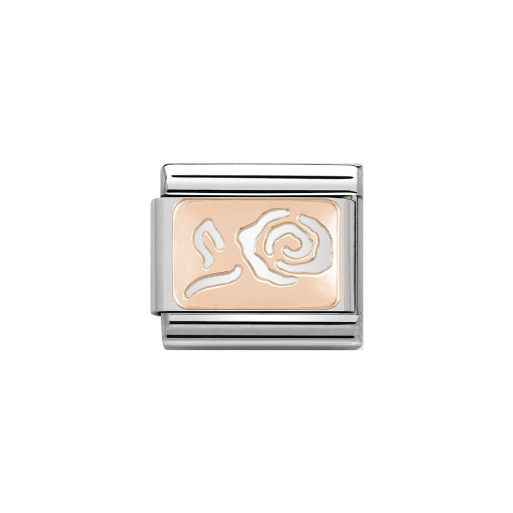 Nomination Classic Rose Gold Rose Plate Charm - S&S Argento