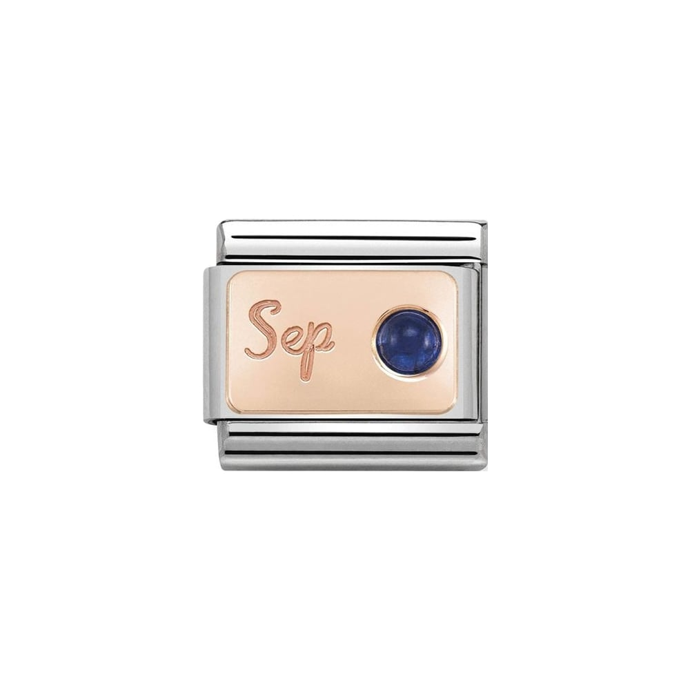 Nomination Classic Rose Gold September Sapphire Charm - S&S Argento
