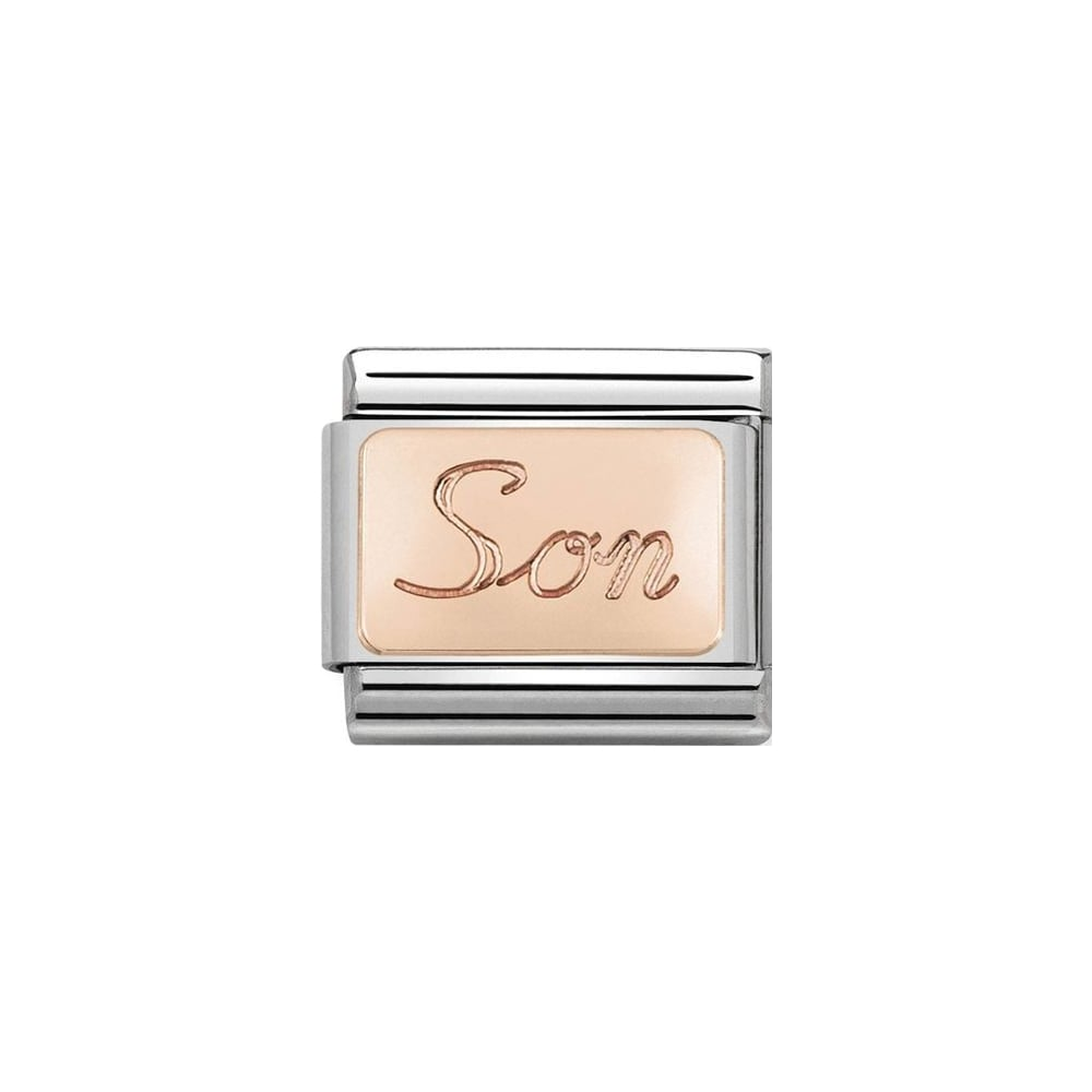 Nomination Classic Rose Gold Son Plate Charm - S&S Argento
