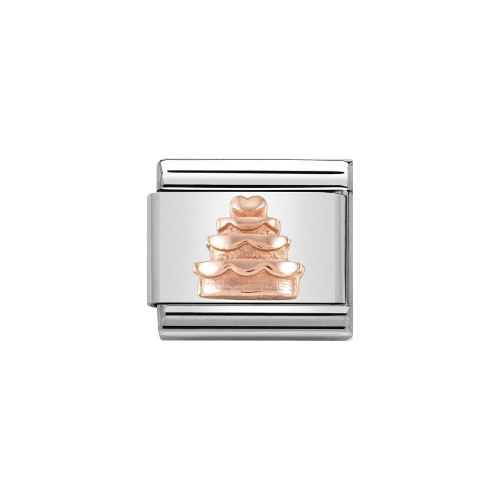 Nomination Classic Rose Gold Tiered Cake Charm