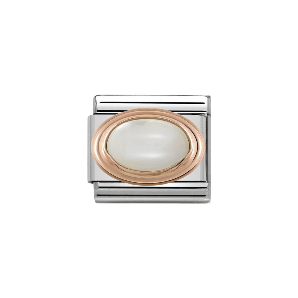 Nomination Classic Rose Gold White Mother Of Pearl Charm