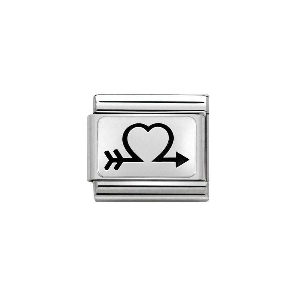 Nomination Classic Silver Arrow Heart Charm - S&S Argento
