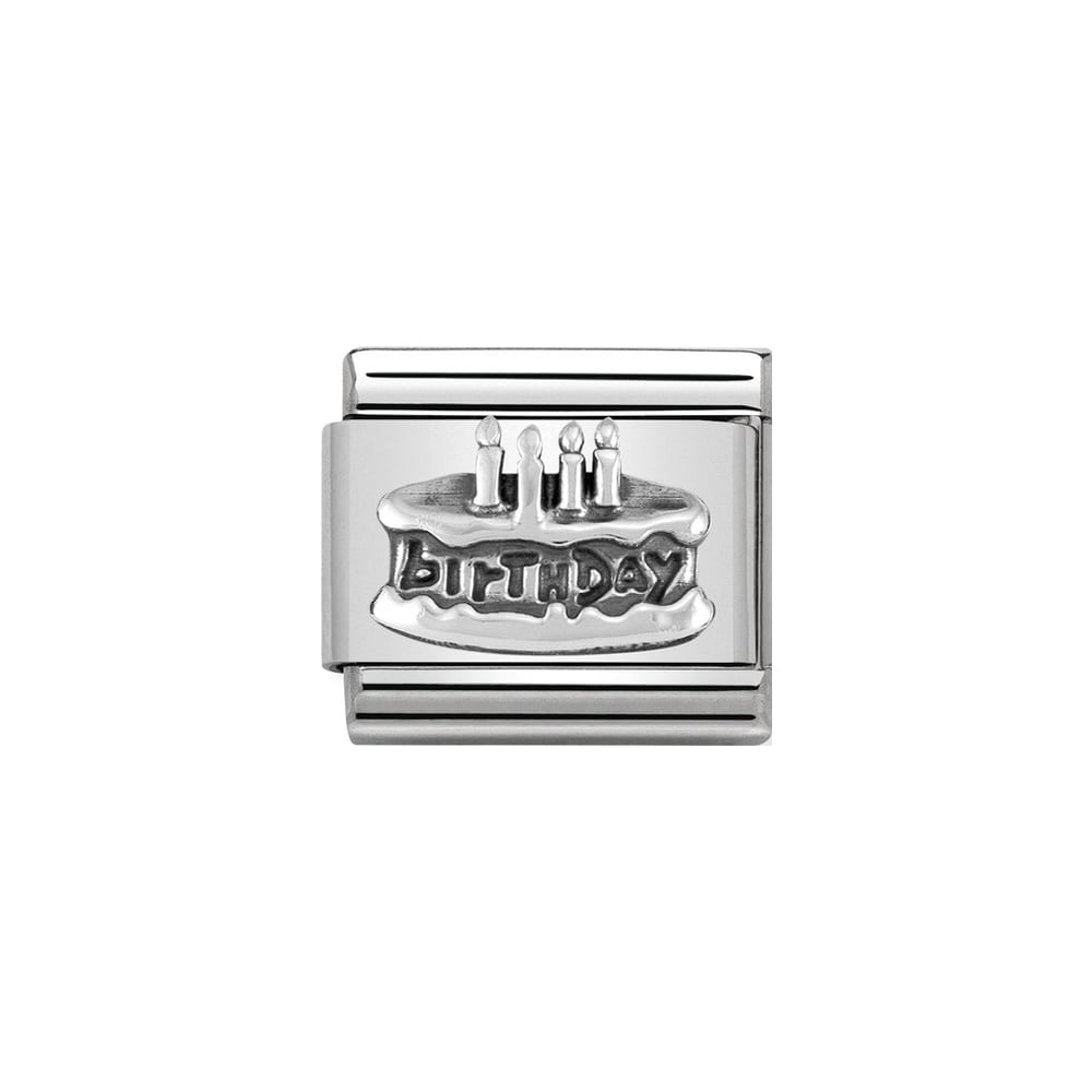 Nomination Classic Silver Birthday Cake Charm - S&S Argento