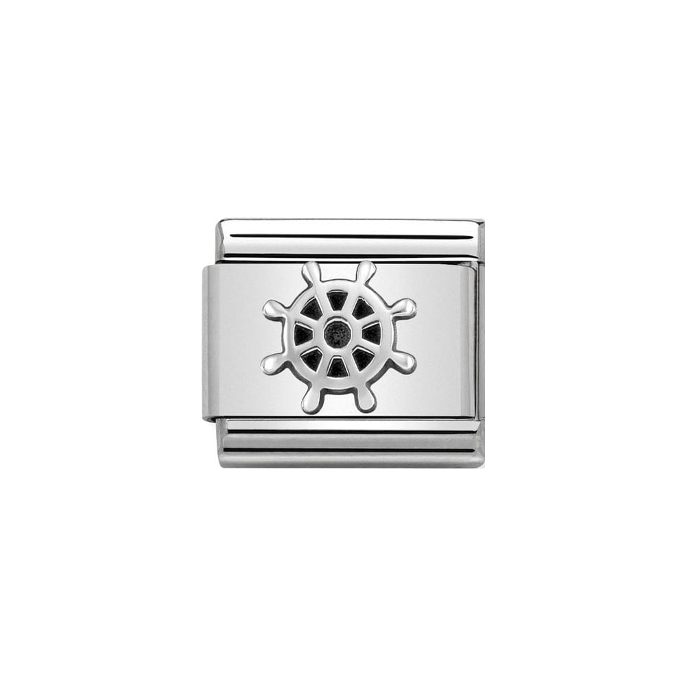 Nomination Classic Silver Boat Wheel Charm