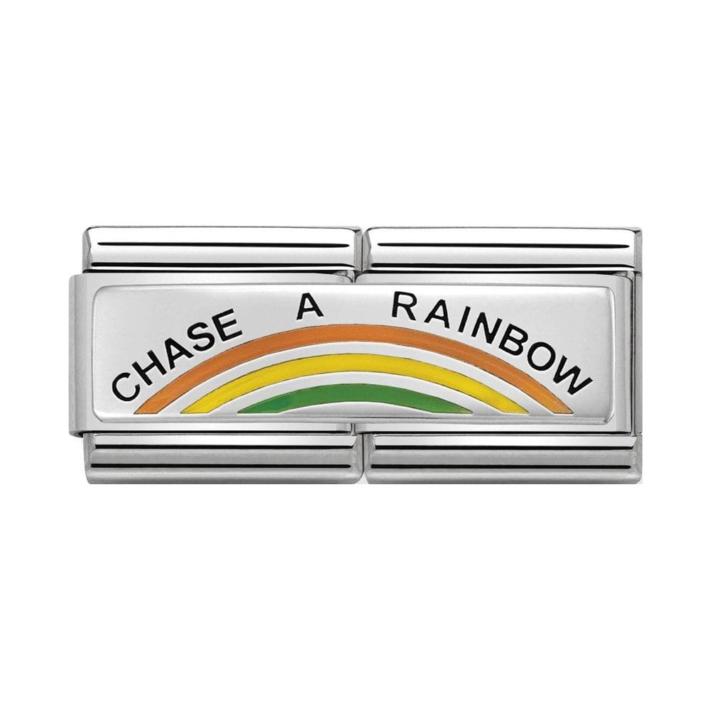 Nomination Classic Silver Chase A Rainbow Double Charm - S&S Argento