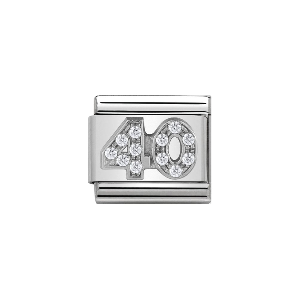 Nomination Classic Silver CZ 40 Charm - S&S Argento