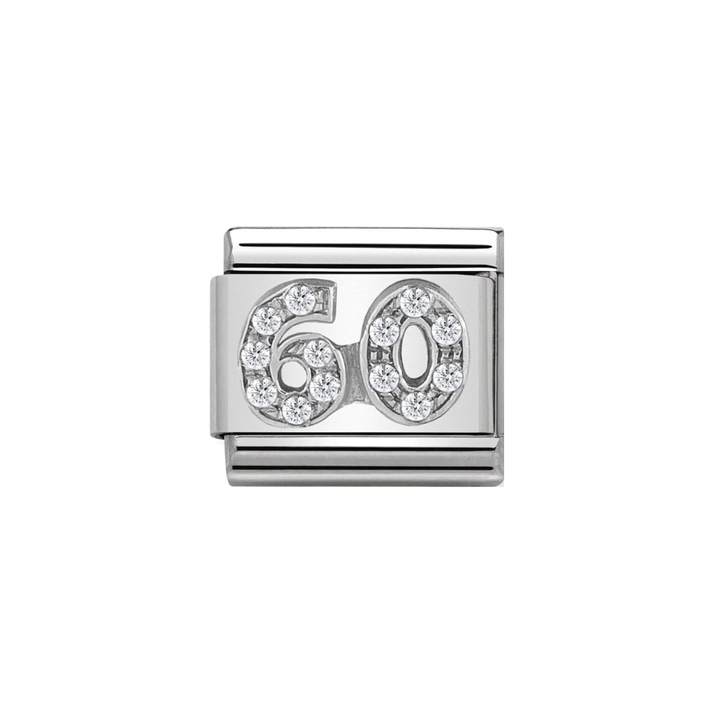 Nomination Classic Silver CZ 60 Charm - S&S Argento