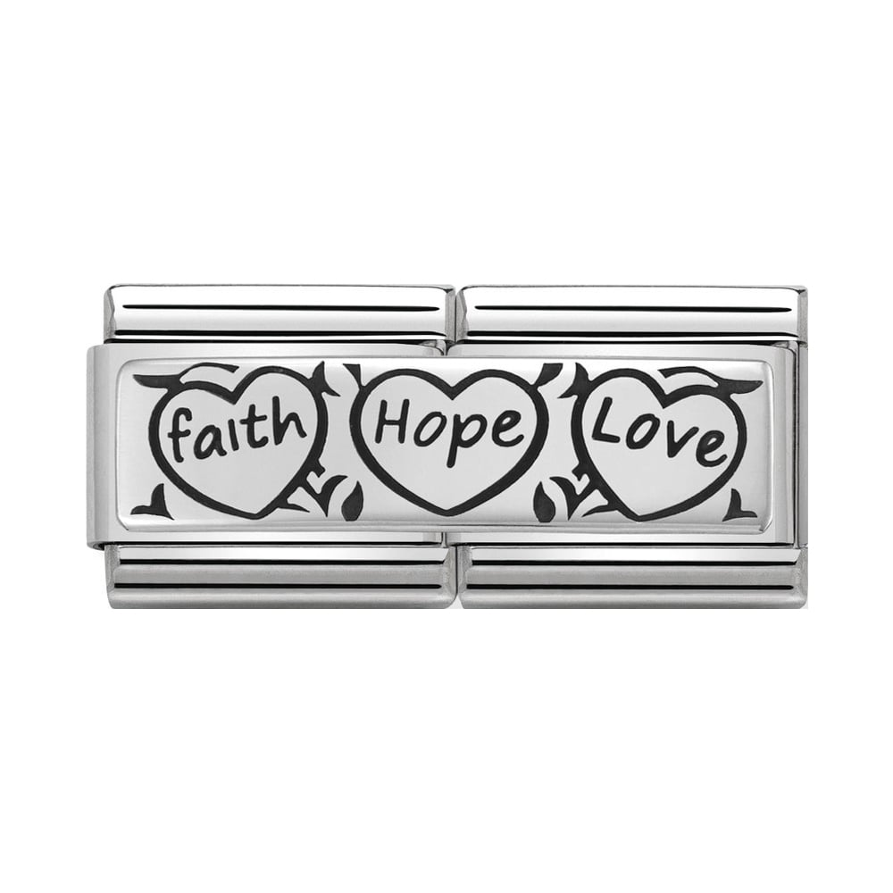 Nomination Classic Silver Faith Hope Love Double Charm - S&S Argento