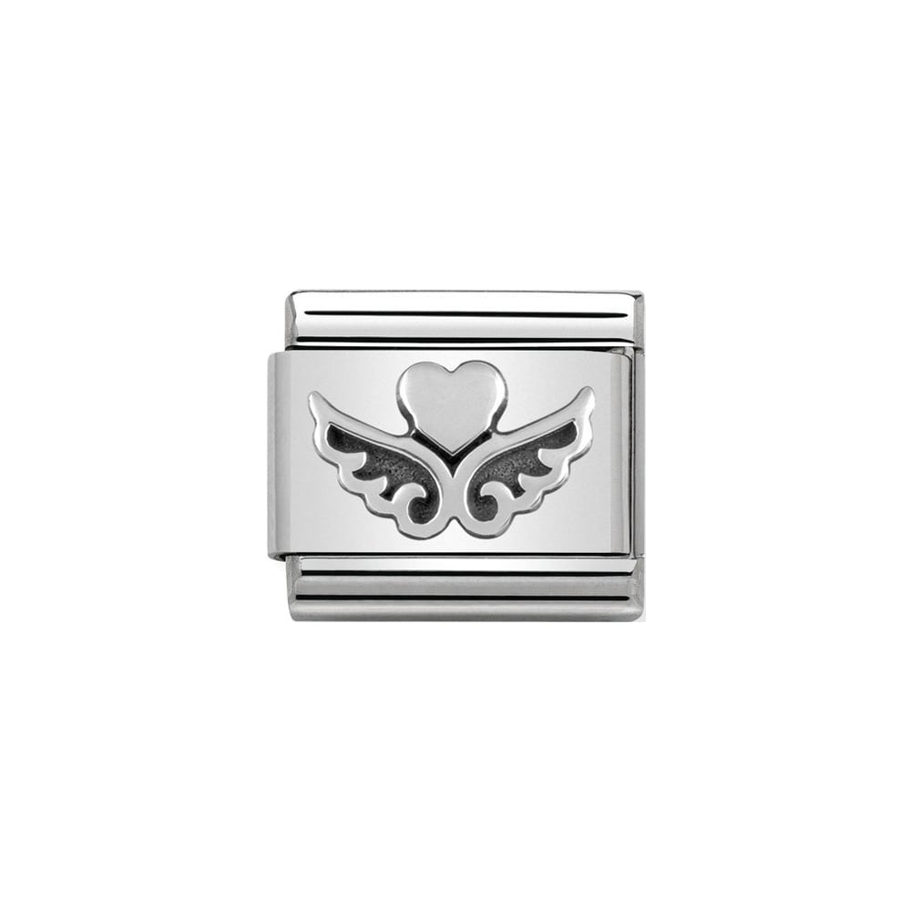 Nomination Classic Silver Heart With Wings Charm - S&S Argento