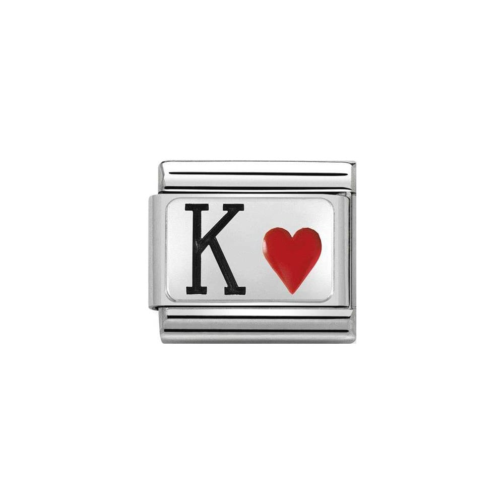 Nomination Classic Silver King of Hearts Charm