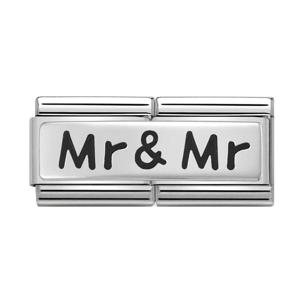 Nomination Classic Silver Mr & Mr Double Charm - S&S Argento