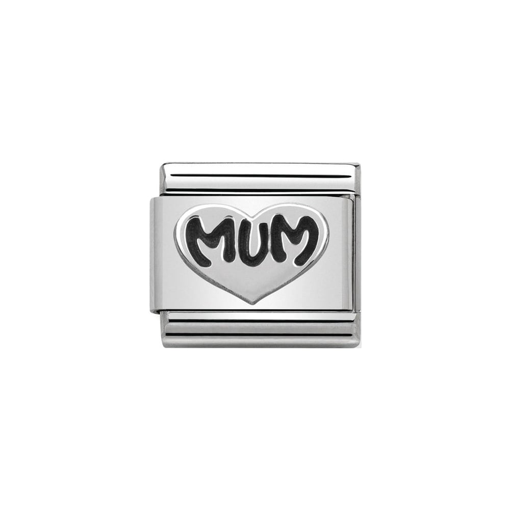 Nomination Classic Silver Mum Heart Charm - S&S Argento