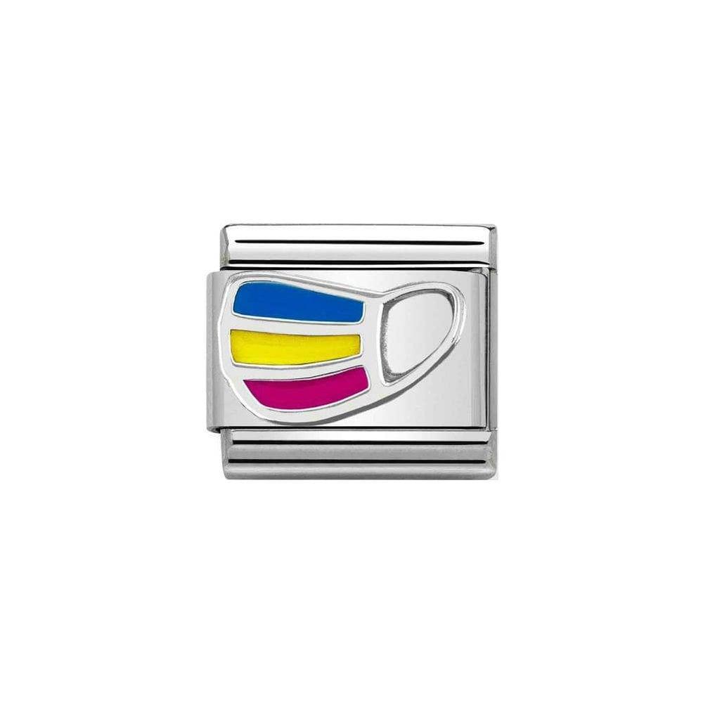 Nomination Classic Silver Rainbow Mask Charm