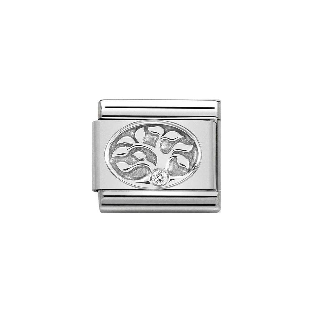 Nomination Classic Silver & White CZ Tree of Life Charm - S&S Argento
