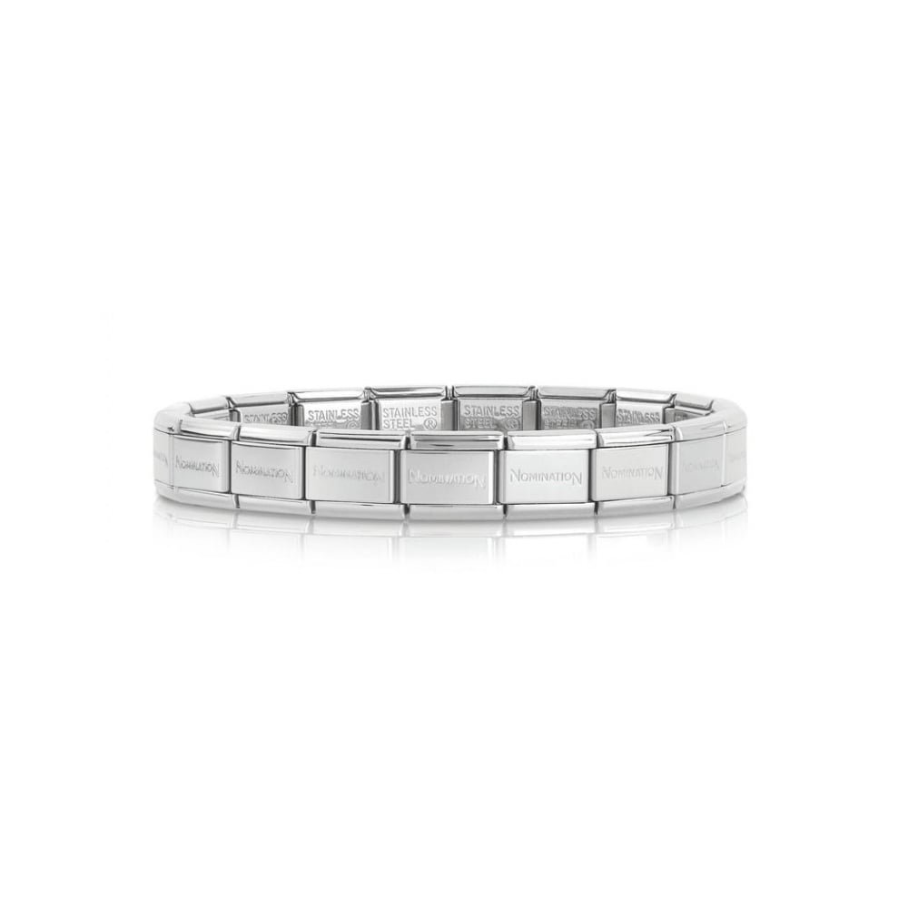 Nomination Classic Silver Stainless Steel Base Composable Charm Bracelet - S&S Argento
