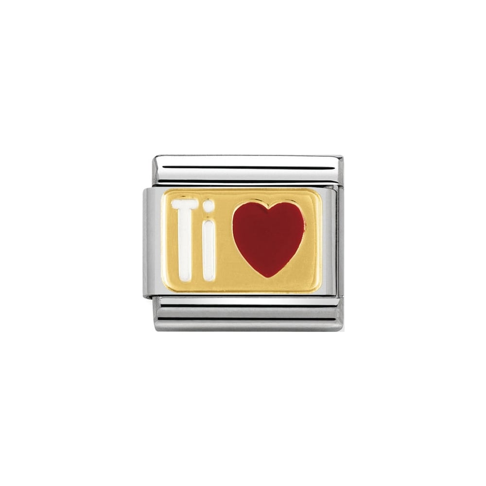 Nomination Classic Gold & Red Ti Amo Heart Charm