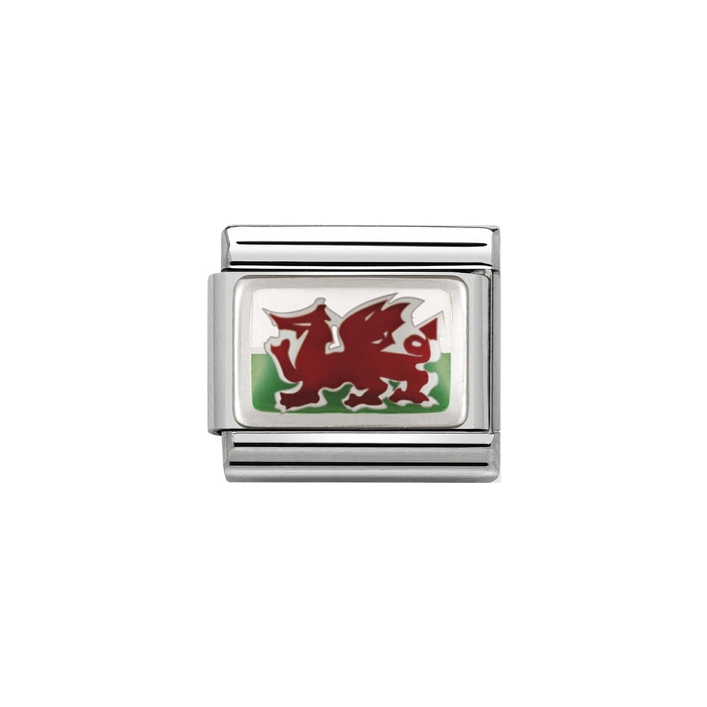 Nomination Classic Silver Wales Flag