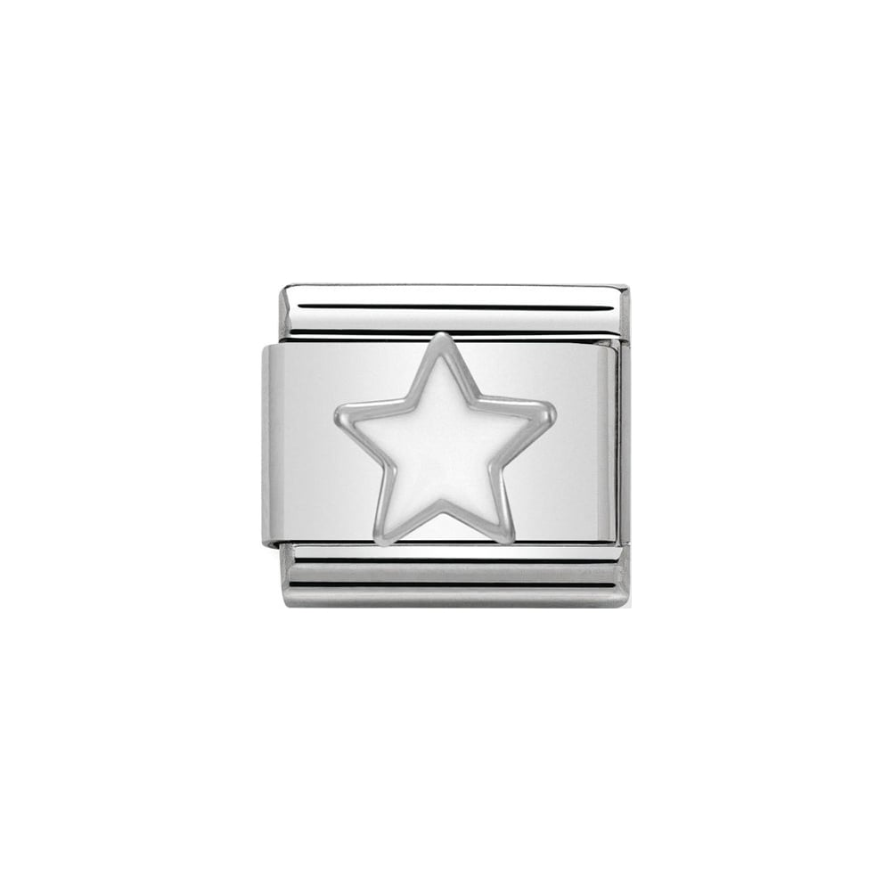 Nomination Classic Silver White Star Charm - S&S Argento