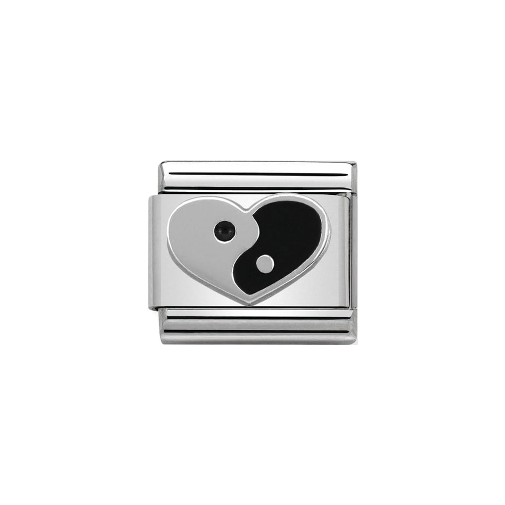 Nomination Classic Silver Ying Yang Heart Charm - S&S Argento