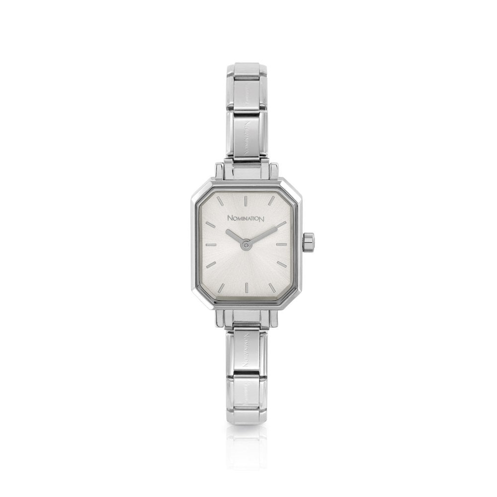 Nomination Classic Paris Silver Rectangular Dial Bracelet Watch - S&S Argento