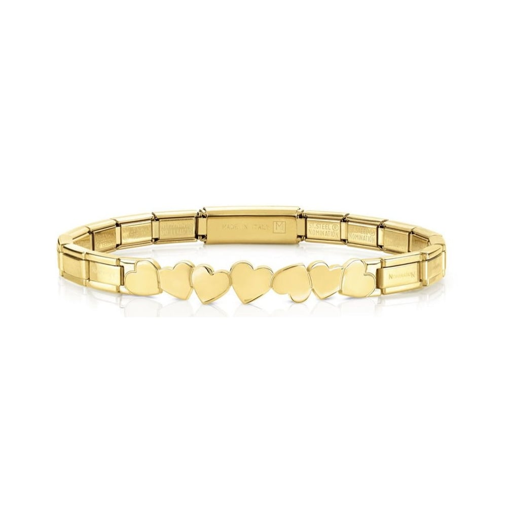 Nomination Trendsetter Yellow Gold Hearts Bracelet - S&S Argento