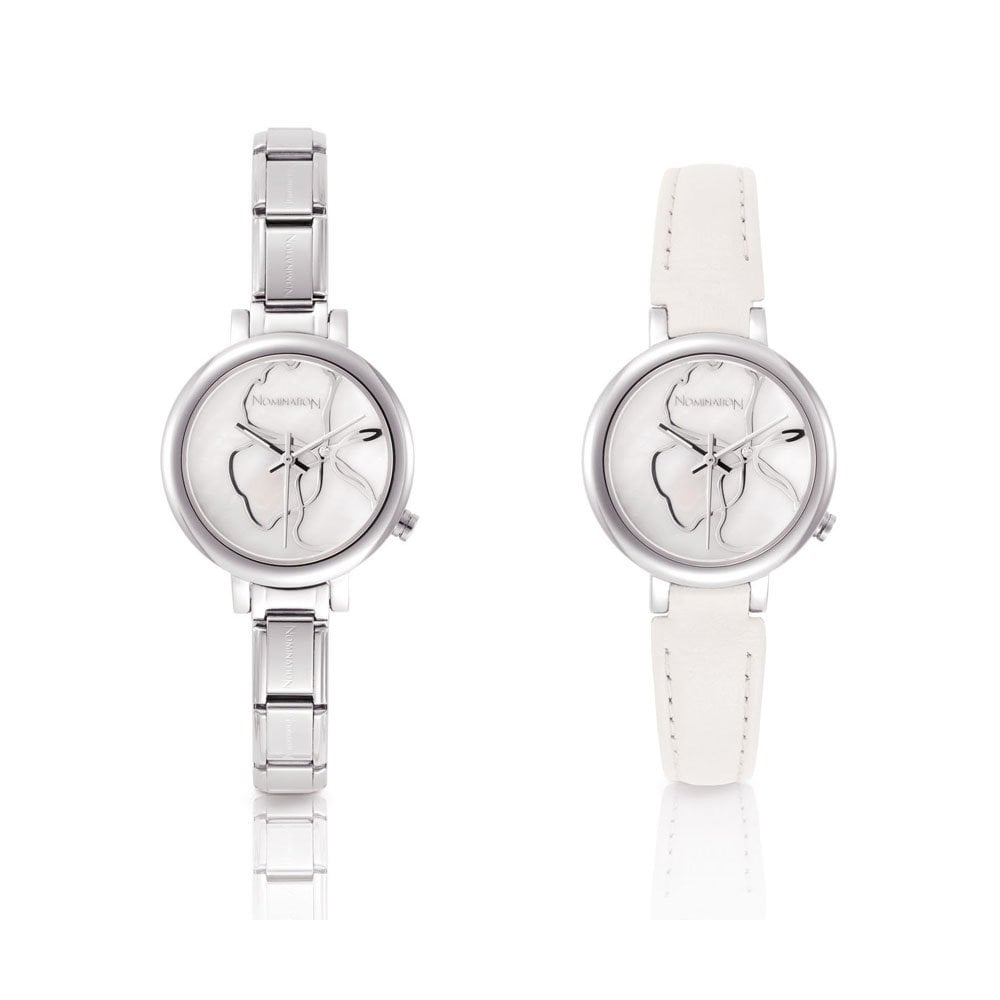 Nomination Paris Classic Silver Interchangeable Watch White Round Face