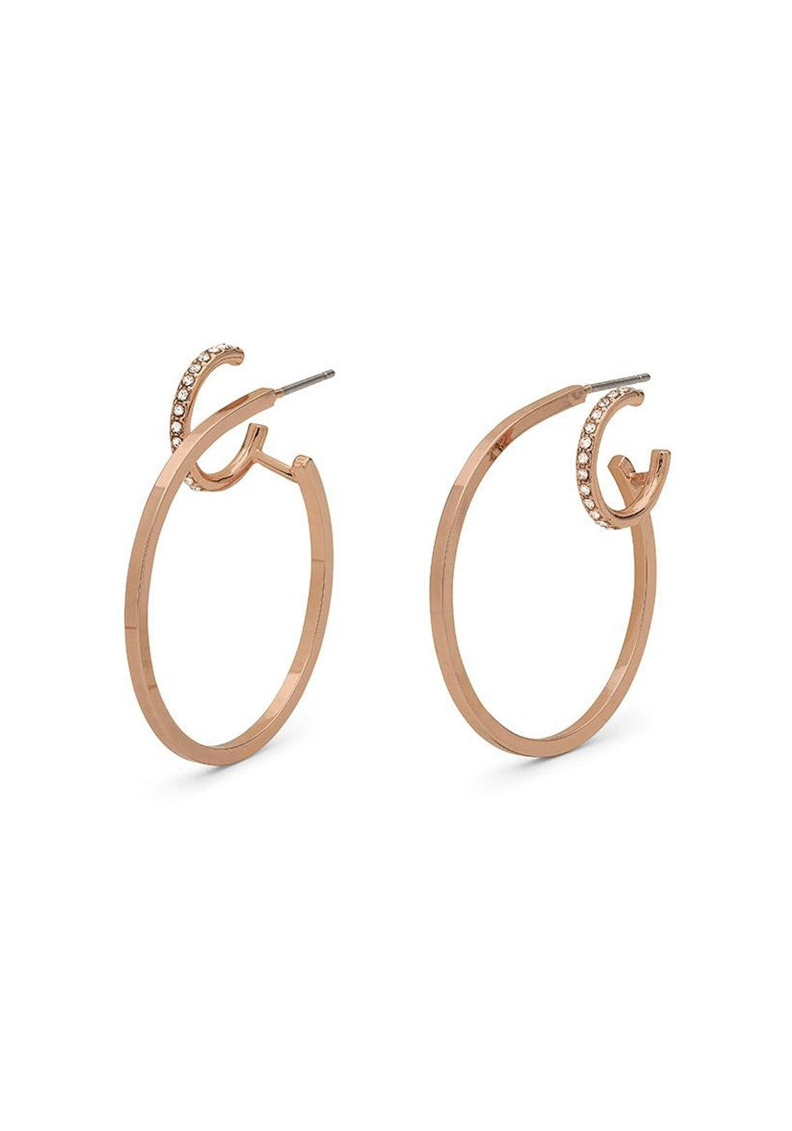 Pilgrim Kama Double Crystal Hoop Earrings