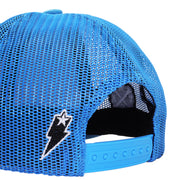 Azure Curved Trucker