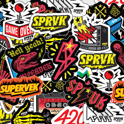 Supervek Sticker💣 Pack