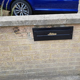 built in post box front with collection box