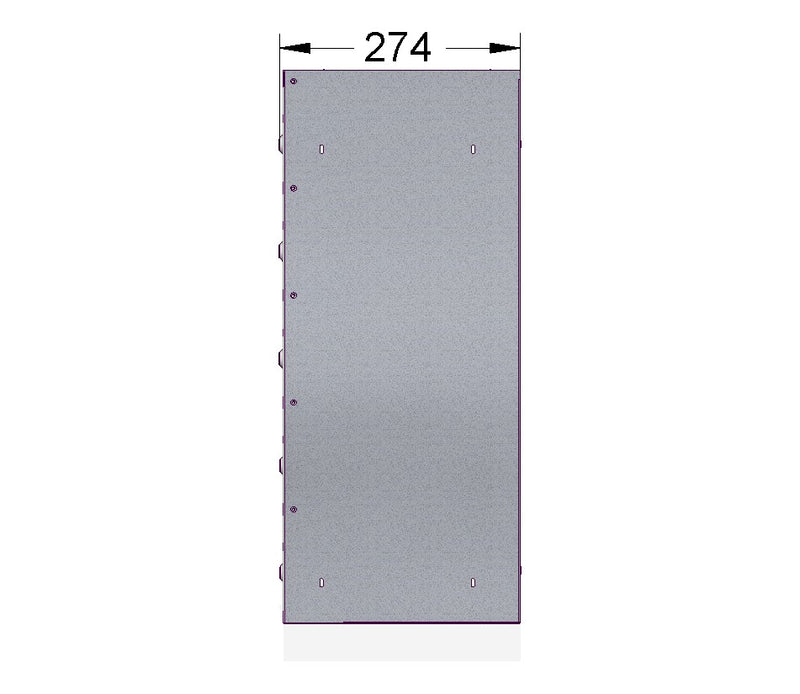 E1 Post Box For Student Accommodation With Combination Lock In Dark Grey RAL 7015