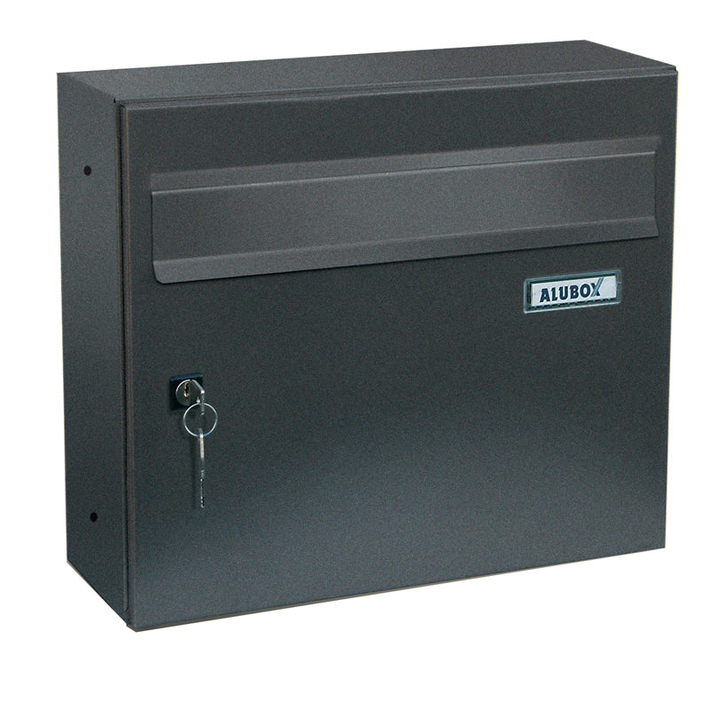 Giove dark grey external letterbox front view