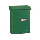 green post box suitable for wall mounting external Lockable Post Box
