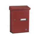 red letterbox for wall mounting Lockable Post Box