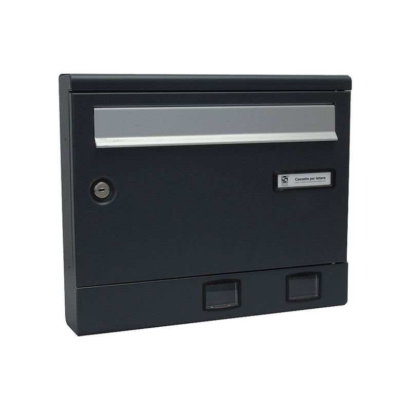 steel external wall mounted post box