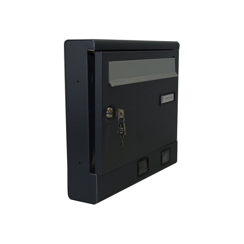 wall mounted lockable post box