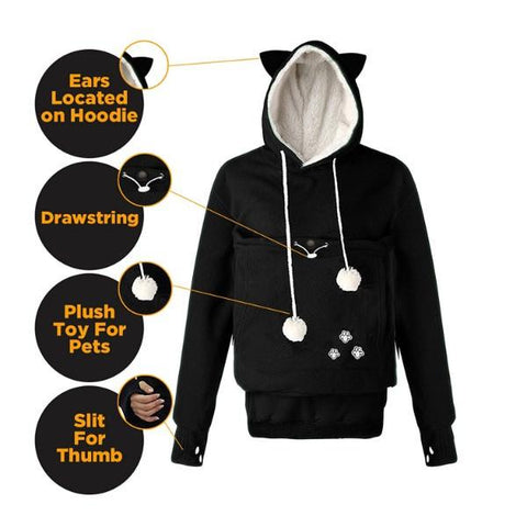 Get cat pouch hoodie- GlamorousDogs