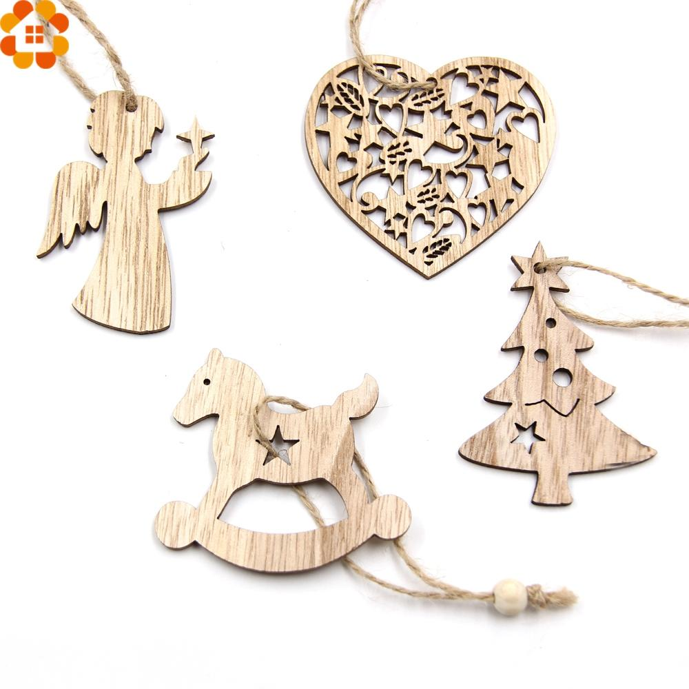 Christmas decorations snowflakes deertree wooden pendants ornaments aloadofball Image collections