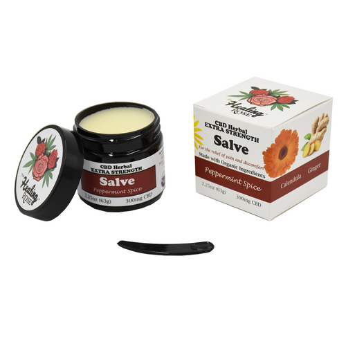 The Healing Rose Herbal Salve - Peppermint Spice Extra Strength 2.25oz