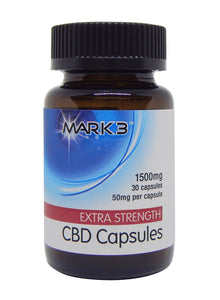 MARK3 CBD Vegan Capsules Extra Strength - All Natural 1500mg