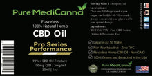 CBD Isolate Oil Tincture Pro Series Performance