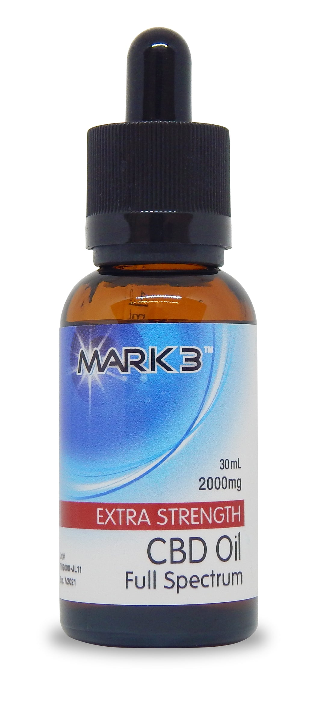 MARK3 CBD Oil Full Spectrum Natural Flavor - 1,000mg