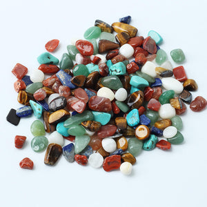 100g/Bag Colorful Irregular Tumbled Stones Gravel Gemstone Rock Tumblestones Gems Crystal Healing Reiki Beads Decoration