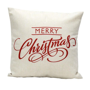 High Quality 2015 Lusury Brand Vintage Christmas Letter Bed Home Festival Pillow Case Cute Pillow In Cushion Free Shipping