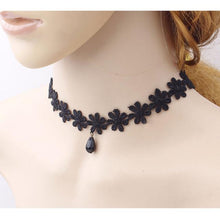Hot Women's Fashion Necklace Black Lace Collar Choker Statement Bib Pendant