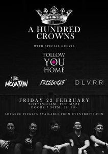 TICKETS: 22nd Feb - The Maze, Nottingham (w/ A Hundred Crowns)