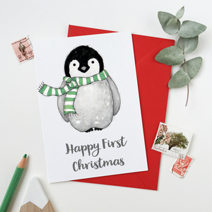 CA6-C-02 / Baby Penguin First Christmas Card