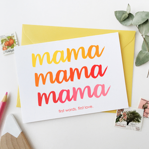 CA6-MD-01 / First Words Mother's Day Card