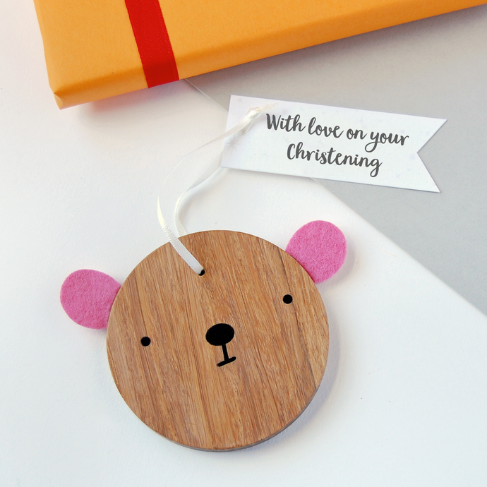 BB-NB-13 / On Your Christening Bear Decoration