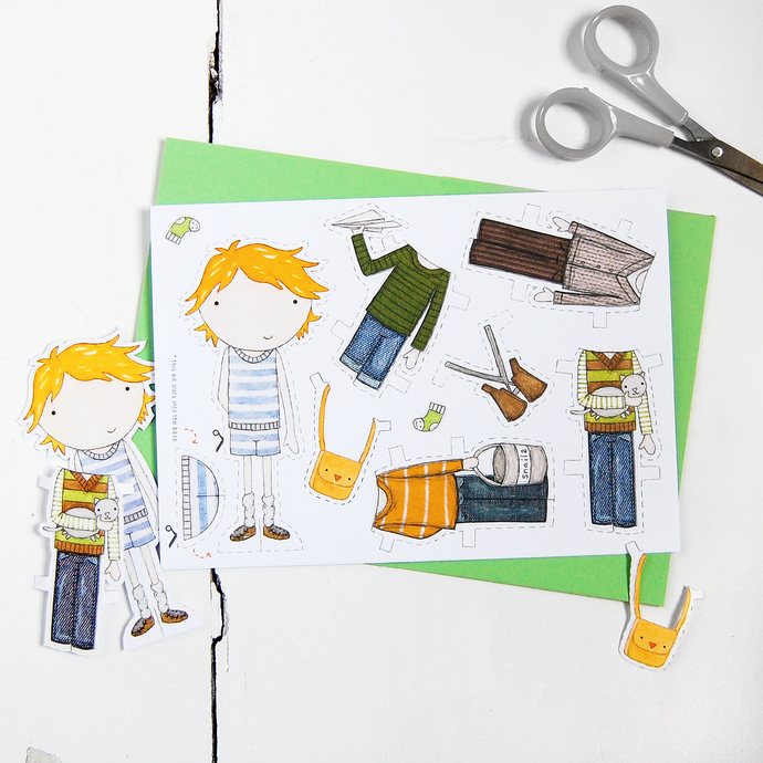 Colin Paper Doll Card